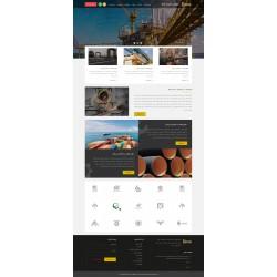 طراحی سایت شرکتی (طرح نقره ای)